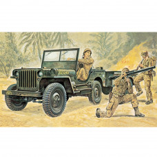 ITALERI WILLYS MB JEEP WITH TRAILER 1:35