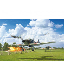 ITALERI HURRICANE MK. I - W/PHOTO ETCH PARTS BATTLE OF BRITAIN 80TH ANNIVERSARY 1:48