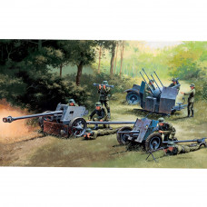 ITALERI GERMAN GUNS SET: PAK35-PAK40-FLAK38 1:72