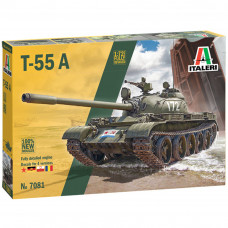 ITALERI T-55 A TANK, NEW MOULD, SUPER DETAILED KIT 1:72