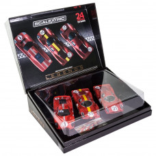 SCALEX FERRARI & FORD GT MKIV LE MANS 1967 TRIPLE PACK - LIMITED EDITION - NEW TOOLING