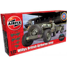 AIRFIX WILLYS JEEP, TRAILER & HOWITZER 1:72