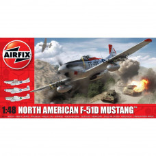 AIRFIX NORTH AMERICAN F51D MUSTANG, 1:48