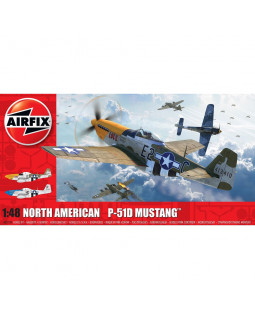 AIRFIX NORTH AMERICAN P51-D MUSTANG (FILLETLESS TAILS)