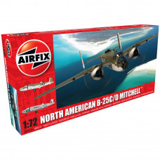 AIRFIX NORTH AMERICAN B25C/D MITCHELL 1:72 - NEW TO0L