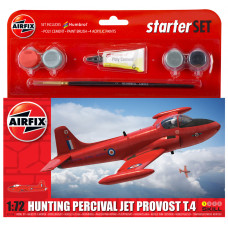 AIRFIX SMALL STARTER SET - HUNTING PERCIVAL JET PROVOST T3 1:72 - NEW LIVERY
