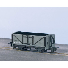 PECO OPEN WAGON, GREY UNLETTERED