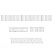 PECO RATIO GWR STATION FENCING, WHITE (INC. GATES & RAMPS)