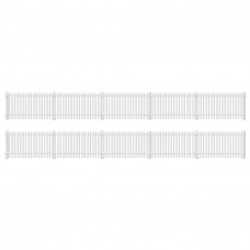 PECO RATIO GWR STATION FENCING, WHITE (STRAIGHT ONLY)