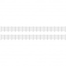 PECO RATIO LINESIDE FENCING, WHITE (4 BAR)