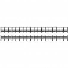 PECO RATIO LINESIDE FENCING, BLACK (4 BAR)