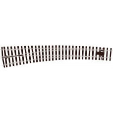 PECO O GAUGE CURVED TURNOUT L/H