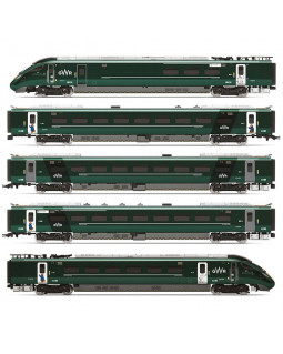 HORNBY GWR, HITACHI IEP BI-MODE CLASS 800/0, 'PADDINGTON' LIVERY FIVE CAR TRAIN PACK