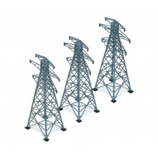 HORNBY 3 ELECTRICITY PYLONS