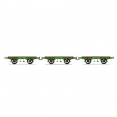 HORNBY L&MR, FLAT BED WAGON PACK - ERA 1