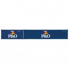 HORNBY P&O, CONTAINER PACK, 1 X 20' AND 1 X 40' CONTAINERS - ERA 11