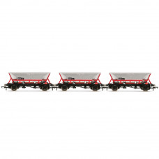 HORNBY HAA HOPPER WAGONS, THREE PACK, BR RAILFREIGHT - ERA 8