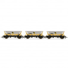 HORNBY HAA HOPPER WAGONS, THREE PACK, BR COAL SECTOR - ERA 8