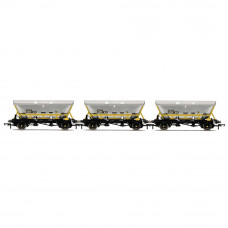 HORNBY HFA HOPPER WAGONS, THREE PACK, BR COAL SECTOR - ERA 8