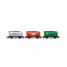 HORNBY PETROL TANKERS, THREE PACK, VARIOUS-ERA 2/3