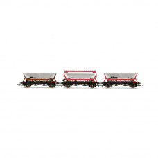 HORNBY NATIONAL WAGON PRESERVATION GROUP, HOPPER WAGONS, THREE PACK - ERA 11