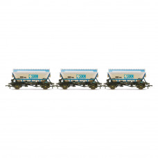 HORNBY ECC, CDA HOPPERS, WEATHERED, THREE PACK - ERA 8