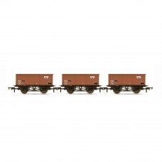 HORNBY BR, 27T MSV IRON ORE TIPPLERS, THREE PACK - ERA 7