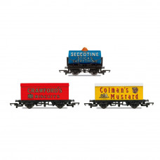 HORNBY HORNBY 'RETRO' WAGONS, THREE PACK, CRAWFORDS BISCUITS, SECCOTINE TANKER, COLEMAN'S MUSTARD