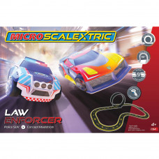 MICRO SCALEXTRIC LAW ENFORCER (MAINS POWERED) - NEW TOOLING 2019