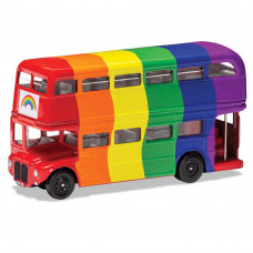 CORGI EXPRESS YOURSELF LONDON BUS - RAINBOW