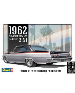 REVELL '62 CHEVY IMPALA HARD TOP 3'N 1 1:25