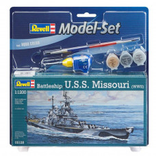 REVELL MODEL SET BATTLESHIP U.S.S. MISSOURI (WWII) 1:1200