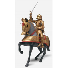 REVELL GOLD KNIGHT WITH HORSE 1:8