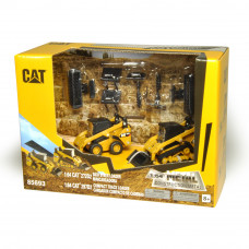 CAT 272D2 SKID STEER LOADER 1:64 & CAT 297D2 COMPACT TRACK LOADER1:64